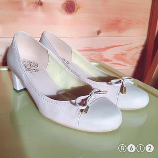 アカクラ(Akakura)のアカクラ リボン パンプス ピンク ローヒール (ローファー/革靴)