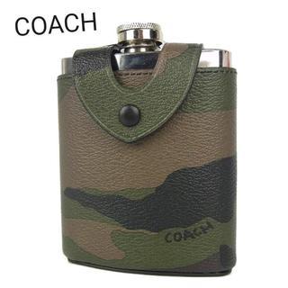 コーチ(COACH)のコーチ 新品 メンズ カモフラ フラスコ スキットル キャンプ ボトル(日用品/生活雑貨)
