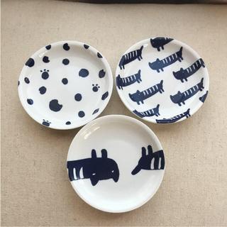 ツモリチサト(TSUMORI CHISATO)の猫柄小皿3枚セット(食器)