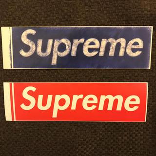 シュプリーム(Supreme)の希少 Supreme ボックス ロゴ ステッカー 2枚セット(ステッカー)