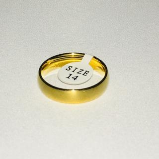 【新品】ゴールド 指輪 プレーン US14号 日本サイズ29号(リング(指輪))