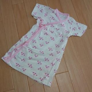 コンビミニ(Combi mini)の★コンビミニ ラップスカート★桜柄50 60(ロンパース)