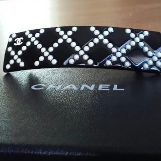 シャネル(CHANEL)のシャネル パールビジューバレッタ 美品(バレッタ/ヘアクリップ)