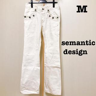 セマンティックデザイン(semantic design)のM セマンティックデザイン 白 デニム(デニム/ジーンズ)