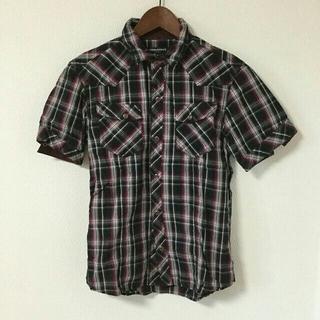 ハイダウェイ(HIDEAWAY)のHIDEWAY NICOLE 半袖シャツ チェック ボタン 46(シャツ)
