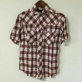 シュリセル(SCHLUSSEL)のSCHLUSSEL シュリセル 半袖シャツ チェック 赤 レッド(シャツ)