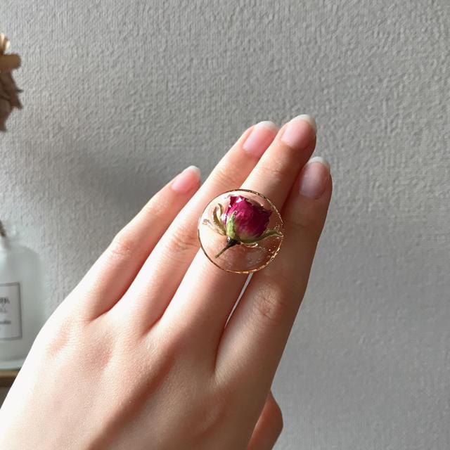 Rose ring ハンドメイドのアクセサリー(リング)の商品写真