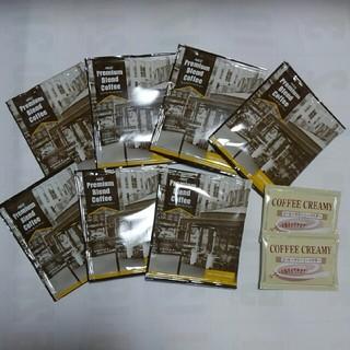 エイージーエフ(AGF)のAGF プレミアムブレンドコーヒー7p オマケクリームパウダー2袋(コーヒー)