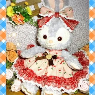 送料無料ステラルーSサイズ☆赤チェック サンドレス3点セット☆双子コーデ出品中