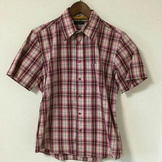 ニーキュウイチニーキュウゴーオム(291295=HOMME)の291295=HOMME 半袖シャツ チェック ピンク コットン(シャツ)