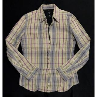 ダブルジェーケー(wjk)の定価37800円 wjk チェック柄フックドレスシャツ AKMウノピュウ(シャツ)