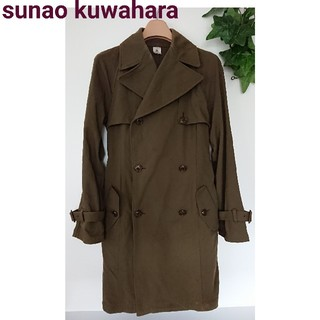 スナオクワハラ(sunaokuwahara)の正規 スナオクワハラ ジャケット トレンチコート カーキ モスグリーン 長袖 M(トレンチコート)