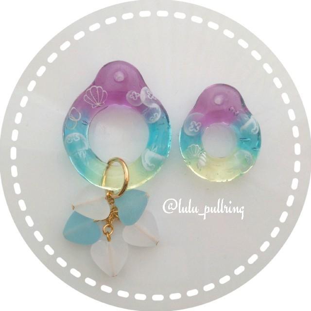 jellyfish pullring* ハンドメイドのアクセサリー(チャーム)の商品写真