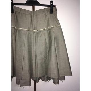 ニールバレット(NEIL BARRETT)のNeil Barrett レイヤードスカート(ひざ丈スカート)