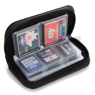 ブラック22口 メモリーカード SDカードケース 収納ケース