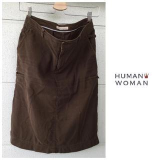 ヒューマンウーマン(HUMAN WOMAN)のヒューマンウーマン 綿麻 タイトスカート ニコアンド スタジオクリップ 無印良品(ひざ丈スカート)