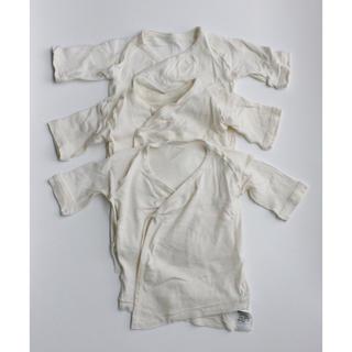 無印良品 無染色オーガニックコットンフライス短肌着 新生児50~60 3枚セット