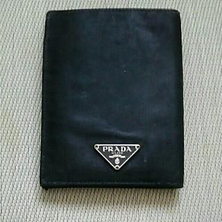 プラダ(PRADA)のPRADA プラダ  財布 カードケース 名刺入れ ナイロン 黒(名刺入れ/定期入れ)