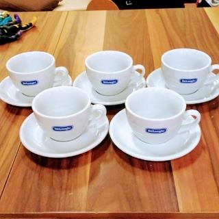 デロンギ(DeLonghi)のデロンギ  コーヒーカップ&ソーサー  5組(食器)