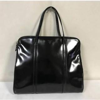 プラダ(PRADA)の本物プラダPRADA本革レザービジネスバッグハンドトートボストンバック黒メンズ(ビジネスバッグ)