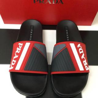 プラダ(PRADA)の新品18SS PRADA プラダ ロゴ シャワーサンダル マルチカラー(サンダル)