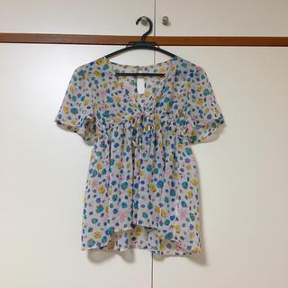 スマディー(SMADDY)の花柄シフォントップス(シャツ/ブラウス(半袖/袖なし))