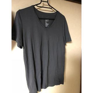 ムジルシリョウヒン(MUJI (無印良品))の青み?濃いグレーTシャツ(Tシャツ(半袖/袖なし))