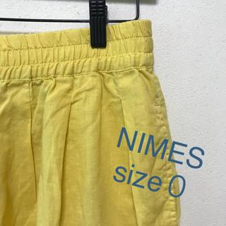 ニーム(NIMES)のNIMES ショートパンツ イエロー(ひざ丈ワンピース)