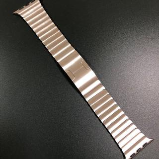 アップルウォッチ(Apple Watch)の『美品』純正  apple watch 42mm リンクブレスレット シルバー(金属ベルト)
