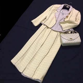 シャネル(CHANEL)のCHANEL サマー ツィード スーツ 3点セット 未着用(スーツ)
