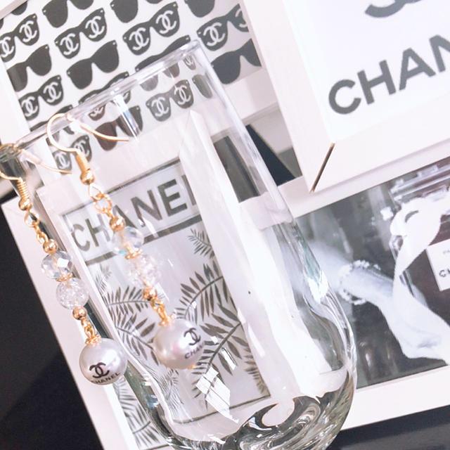 CHANELパールハンドメイドアクセサリー♥ピアス ハンドメイドのアクセサリー(ピアス)の商品写真