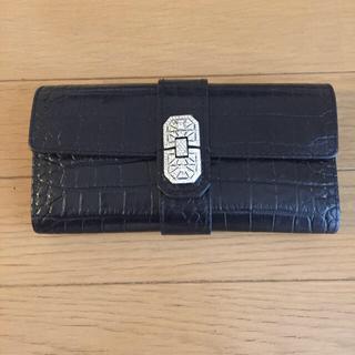 エーディーエムジェイ(A.D.M.J.)のADMJ クロコ型押し 長財布 黒(財布)