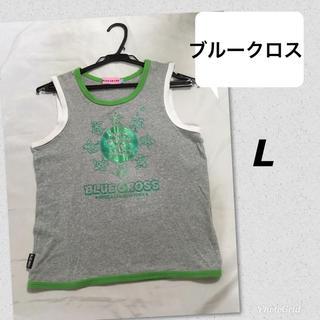 ブルークロス(bluecross)のBLUE CROSS ブルークロス 160 L タンクトップ 女の子 女児グレー(Tシャツ/カットソー)