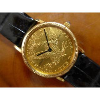 コルム(CORUM)の本物保証:CORUM(コルム)コイン・ウォッチ(10ドル金貨)レディース(腕時計(アナログ))