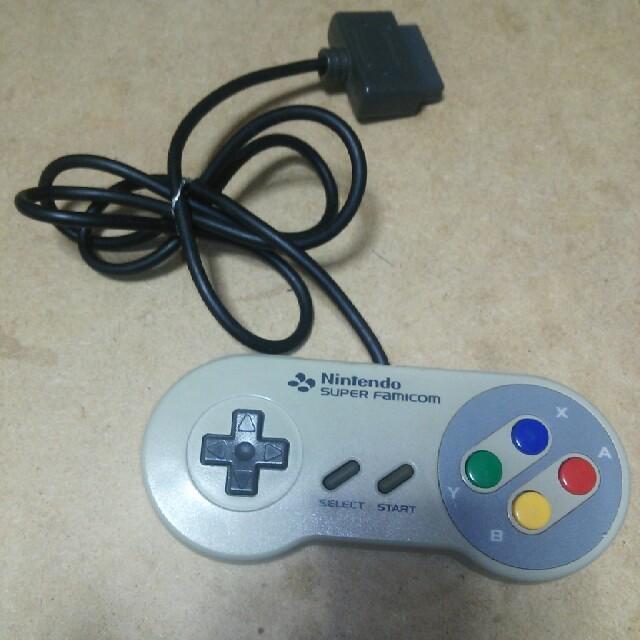 スーパーファミコン(スーパーファミコン)の【ボタン操作確認済みです】スーパーファミコン コントローラー エンタメ/ホビーのゲームソフト/ゲーム機本体(その他)の商品写真