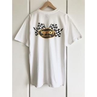 【希少】バンソン『vansonLeathers/チェッカーフラッグ』ロゴTシャツ