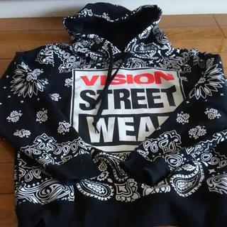 ヴィジョン ストリート ウェア(VISION STREET WEAR)のVision street wear 黒ペイズリーパーカー Mサイズ(パーカー)