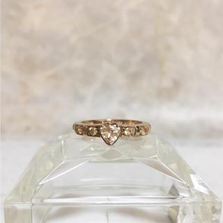 フォリフォリ(Folli Follie)の正規品 フォリフォリ 指輪 ゴールド ハート ラインストーン 金 リング 石(リング(指輪))