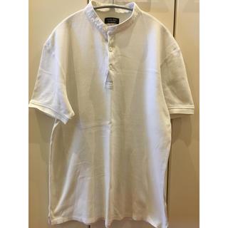 ザラ(ZARA)のZARA ポロシャツ 白 スタンドカラー (ポロシャツ)