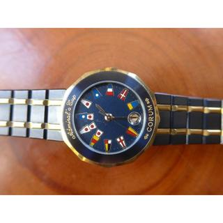 コルム(CORUM)の本物保証:  コルム アドミラルズカップ ガンブルー  レディース(腕時計)