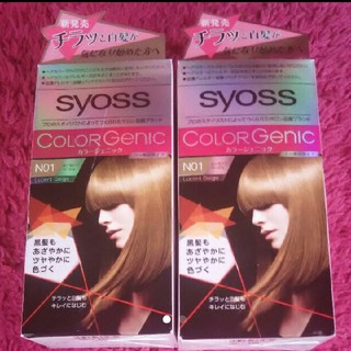 サイオス syoss カラージェニック N01 ルーセントベージュ 2個セット(白髪染め)