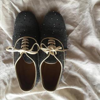 サイ(Scye)のscye サイ ビーズ装飾シューズ(ローファー/革靴)