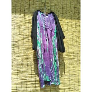 マライカ(MALAIKA)のマライカ 未使用新品 タイダイロングワンピース 紫(ロングワンピース/マキシワンピース)