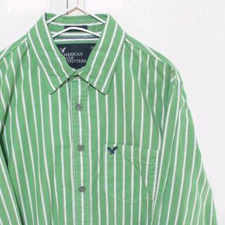 アメリカンイーグル(American Eagle)のUS アメリカンイーグル ドレス シャツ greenWH M(シャツ)
