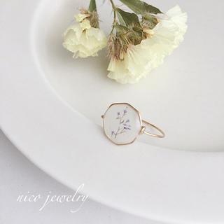 小さなお花のワイヤーリングNo.1(リング)