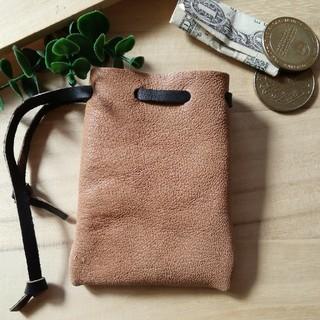 革の巾着 ミニサイズ 小物入れ コインケース (財布)
