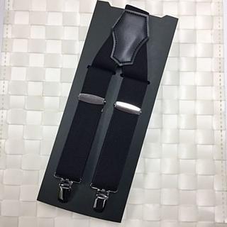 紳士用 サスペンダー メンズ シンプルブラック(サスペンダー)