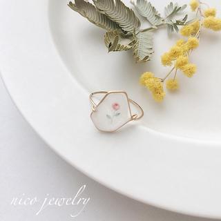 小さなお花のワイヤーリング(リング)