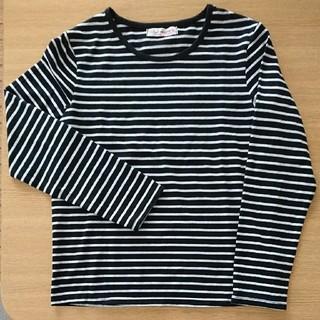 シマムラ(しまむら)の黒ボーダー長袖シャツ160size(Tシャツ/カットソー)