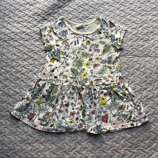 エイチアンドエム(H&M)の花柄ワンピース 70(ワンピース)